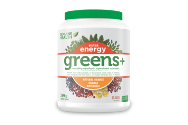 Win 1 of 5 Bottles of Genuine Health's greens+ Extra Energy!