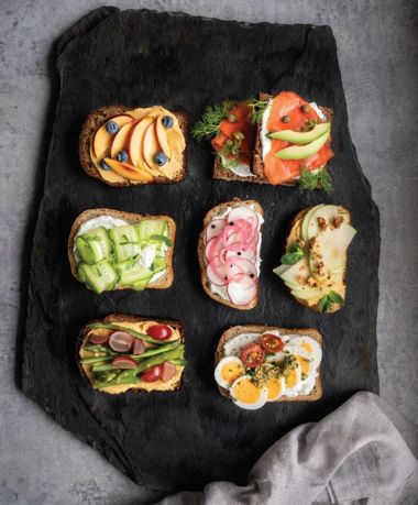 Colourful Open-Faced Lunch