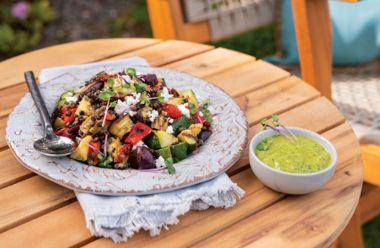 Grilled Ratatouille Lentil Salad