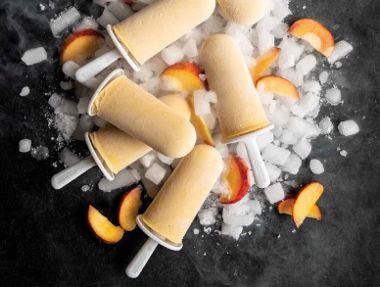 Peach Cheesecake Pops