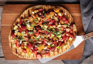 Vibrant Strawberry-Tomato Flatbread