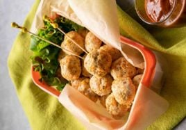 Chicken Meatballs with Tangy Sauce