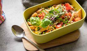 Chickpea Lentil Pasta Salad
