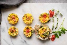 Easy-Peasy Zucchini and Tomato Frittata
