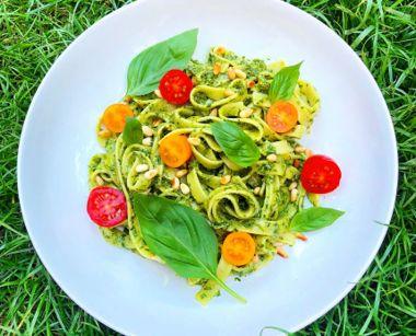 Hemp and Carrot Top CBD Pesto with Pasta