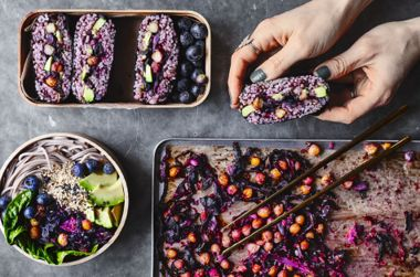 Roast Cabbage Slaw Bento