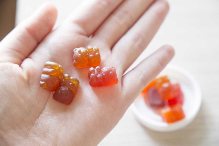 vitamins for children in the hands