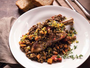 Cozy Lamb and Lentils with Gremolata