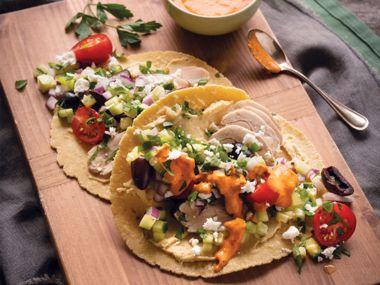 Med-Style Chicken Tacos