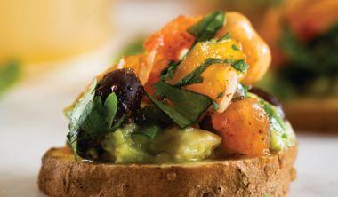 Vegetable Caviar Sweet Potato Bites