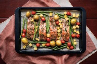 Sheet Pan Za'atar Spiced Salmon