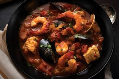 Winter Warming Smoky Seafood Stew