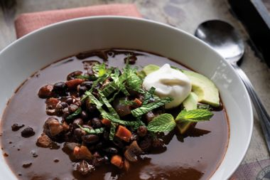 Cocoa-Spiced Bean Soup