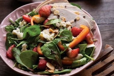 Roasted Berry Turkey Salad with Double Chocolate