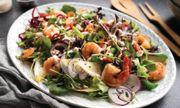 Beautiful Rainbow Prawn Salad