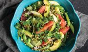 Buckwheat Groats, Greens, and Grapefruit Salad with Chive Vinaigrette
