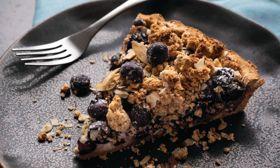 Vegan Blueberry Crumble Top Tart
