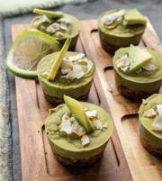 Mini Avocado Matcha Pudding Cups