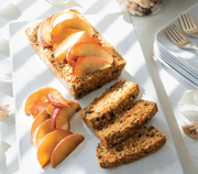 Carrot Cake Oatmeal Loaf with Maple Braised Apple