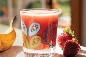 Strawberry Banana Iced Green Tea Smoothie