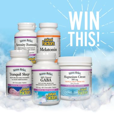 Win a Sleep-Supporting Prize Pack from Natural Factors!