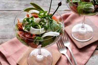 Avocado and Salmon Cocktails
