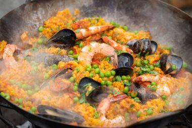 Smoky Seafood Paella