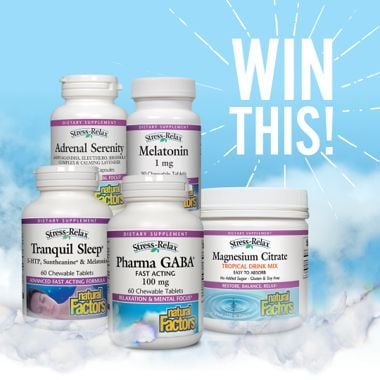 Win a Better Sleep Prize Pack from Natural Factors!