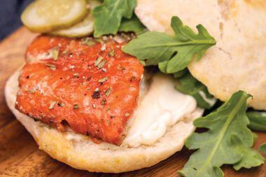 Sage-Smoked Salmon Burgers