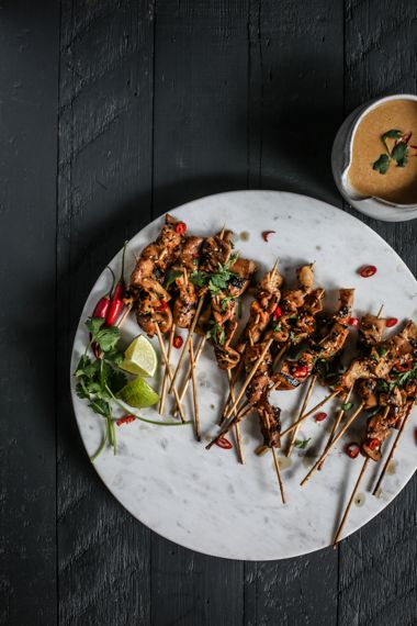 King Satay with Spicy Peanut-Ginger Sauce