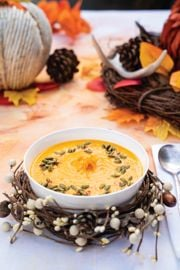 Citrusy Roasted Carrot Soup