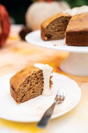 Sticky Toffee Pudding Cake with Maple Cream