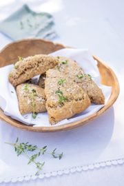 Herby Flax Parmesan Scones