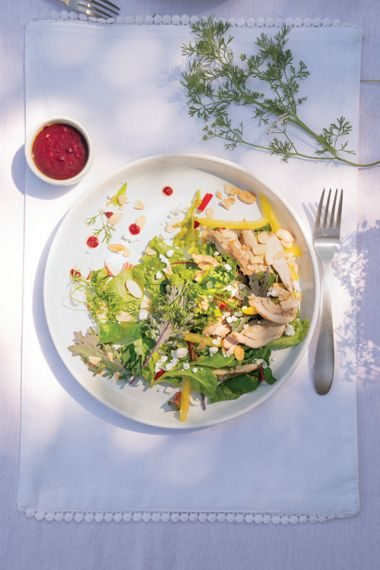Roasted Chicken Salad with Tangy Beet Vinaigrette