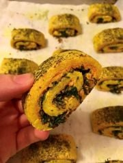 Harissa, Goat Cheese, and Herb Rugelach