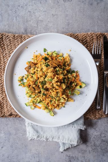 Smoky Tempeh and Confetti Millet