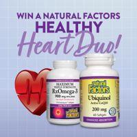 Win a Natural Factors Healthy Heart Duo!