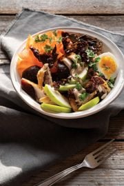 Mackerel Dulse Bowl with Toasted Walnut Sauce