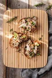Chicken Toast with Savoury Miso-Mushroom Gravy