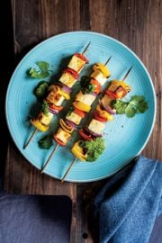 Paneer Kebabs with Spicy Zhoug Sauce
