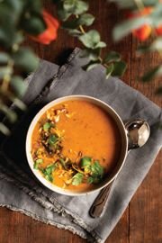 Gingery Carrot and Wild Rice Soup