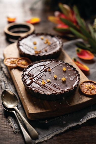 Chocolate Coconut Ganache Cups with Ginger and Orange