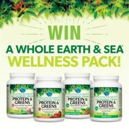 Win a Whole Earth & Sea Protein & Greens Prize Pack!