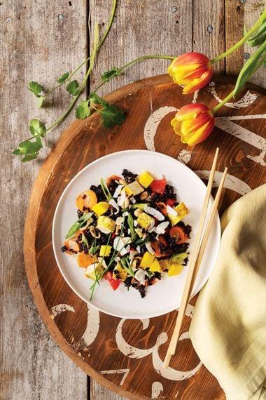 Forbidden Rice Salad with Curry Tofu