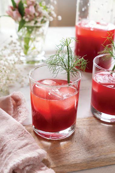 Raspberry Fennel Lemonade