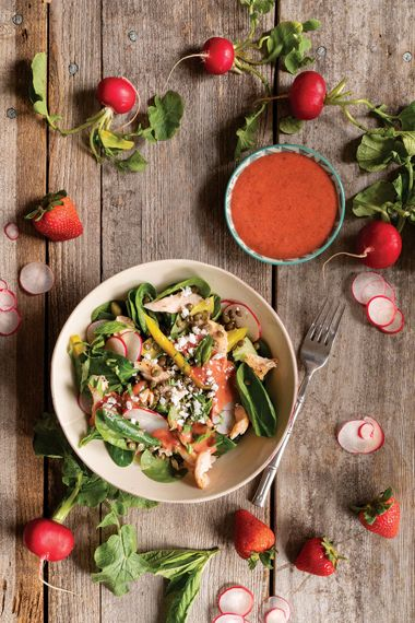 Roasted Rainbow Trout and Strawberry Salad