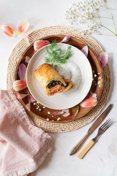 Salmon and Phyllo Pies