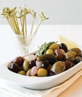 Warmed Olives with Rosemary and Lemon