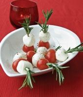 Tomato Bocconcini Stacks