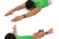 Circling arms with low back extension